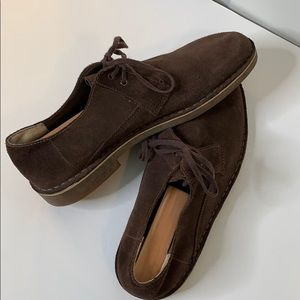 Clarks Brown Suede Size 10 Shoes